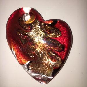 Jewelry - Blown Glass Heart Pendant